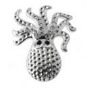 Zirconia 925 Sterling Silver Octopus Pendent