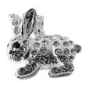 Zirconia 925 Sterling Silver Rabbit Pendent