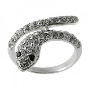 Zirconia 925 Sterling Silver Snake Ring