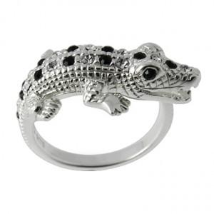 Zirconia 925 Sterling Silver Alligator Ring