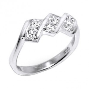 Zirconia 925 Sterling Silver 925ZC-1 Ring