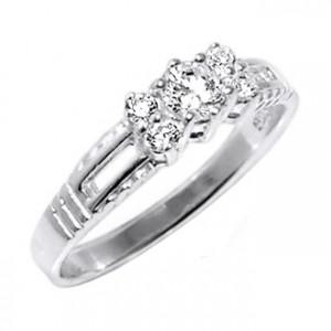 Zirconia 925 Sterling Silver 925ZC-4 Ring
