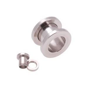 316L Surgical Steel Earlob Flesh Tunnel Ear Plug Stretcher Expander