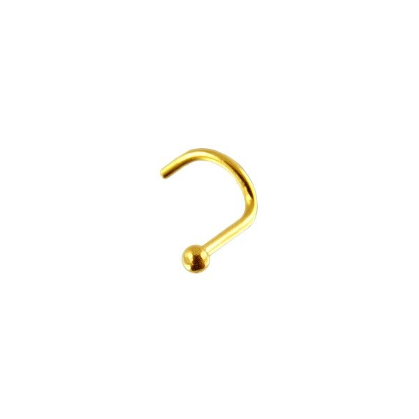 piercing nez or jaune 14k boule votre piercing. Black Bedroom Furniture Sets. Home Design Ideas