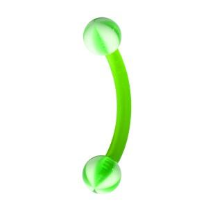 Piercing Arcade pas cher Bioflex / Bioplast Ballon 8 Faces Vert Boules