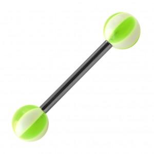 Piercing Langue Acrylique Ballon 8 Faces Vert
