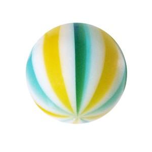 Boule de Piercing Acrylique Beach Ball Jaune / Bleu