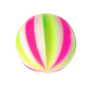 Piercing Kugel Acryl Beach Ball Rosa / Grün