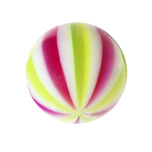 Boule de Piercing Acrylique Beach Ball Violet / Vert