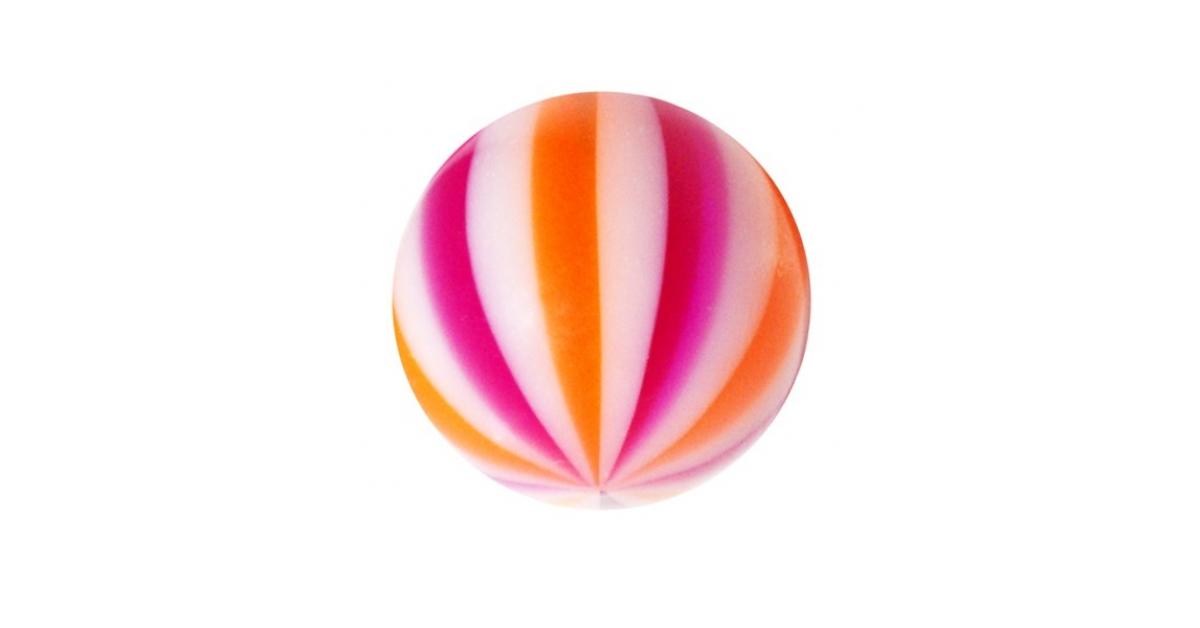 boule de piercing acrylique beach ball violet orange. Black Bedroom Furniture Sets. Home Design Ideas