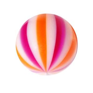 Boule de Piercing Acrylique Beach Ball Violet / Orange