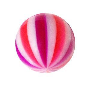 Boule de Piercing Acrylique Beach Ball Rose / Violet