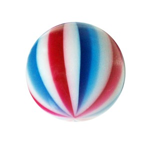 Piercing Kugel Acryl Beach Ball Rot / Blau