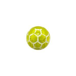 Boule Piercing Acrylique Orbe Craquelée Jaune Transparente