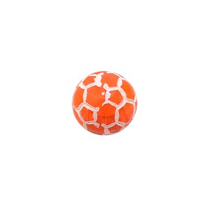 Boule Piercing Acrylique Orbe Craquelée Orange Transparente
