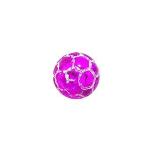 Boule Piercing Acrylique Orbe Craquelée Violette Transparente