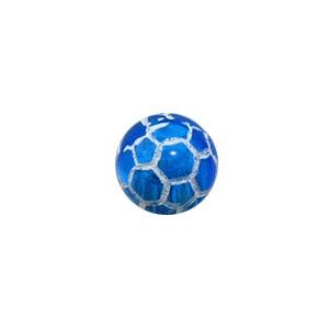 Boule Piercing Acrylique Orbe Craquelée Bleue Foncé Transparente