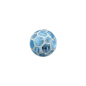 Boule Piercing Acrylique Orbe Craquelée Bleue Clair Transparente