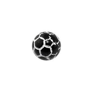 Boule Piercing Acrylique Orbe Craquelée Noire