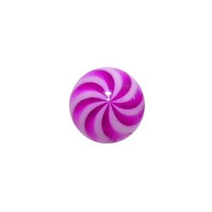 Boule Piercing Acrylique Spirale Blanc / Violet