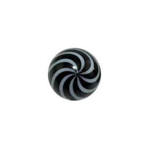 Boule Piercing Acrylique Spirale Blanc / Noir
