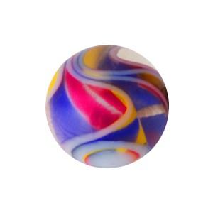 Boule Piercing Acrylique Vortex Jaune / Bleu / Rouge