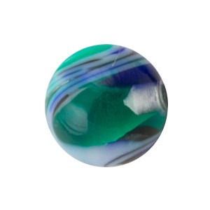 Bola Piercing Acrílico Vórtice Azul / Verde
