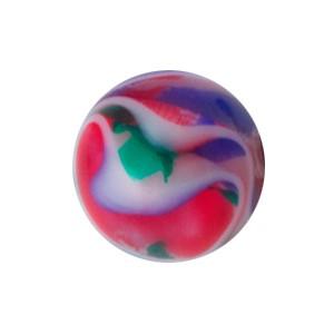 Boule Piercing Acrylique Vortex Rouge / Vert / Bleu