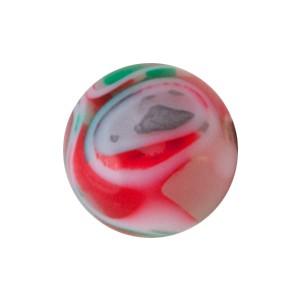 Boule Piercing Acrylique Vortex Vert / Rouge