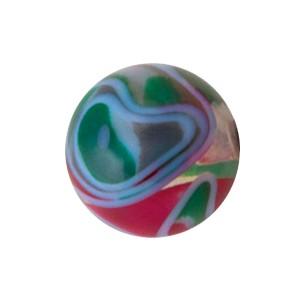 Piercing Kugel Acryl Wirbel Weinrot / Graugrün