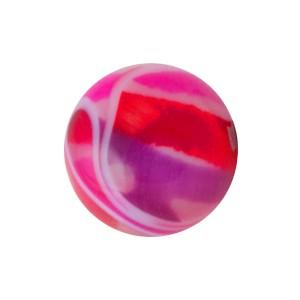 Boule Piercing Acrylique Vortex Rose / Violet