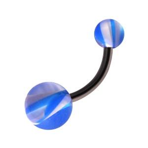 Piercing Nombril Acrylique pas cher Arlequin Bleu