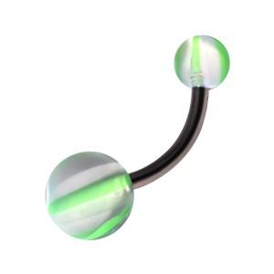 Piercing Nombril Acrylique Arlequin Vert