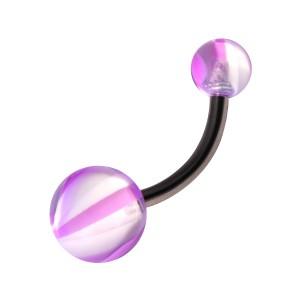 Piercing Nombril Acrylique pas cher Arlequin Violet