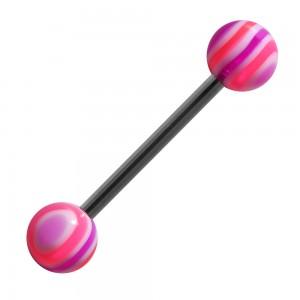 Piercing Langue Acrylique Bonbon Rose / Violet pas cher