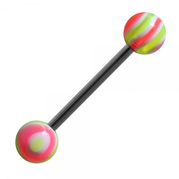 piercing langue acrylique bonbon vert rose pas cher. Black Bedroom Furniture Sets. Home Design Ideas