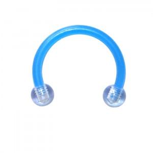 Piercing Tragus / Septum Bioplast Bleu clair Boules