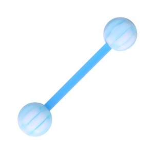 piercing langue bioflex damier bleu clair blanc pas cher. Black Bedroom Furniture Sets. Home Design Ideas
