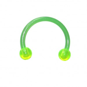 Green Bioplast Tragus / Septum Ring w/ Balls