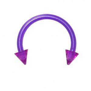 Piercing Tragus / Septum Bioplast Violet Piques