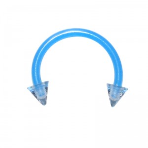 Piercing Tragus / Septum Bioplast Azul Claro Spikes