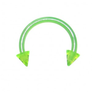 Piercing Tragus / Septum Bioplast Vert Piques