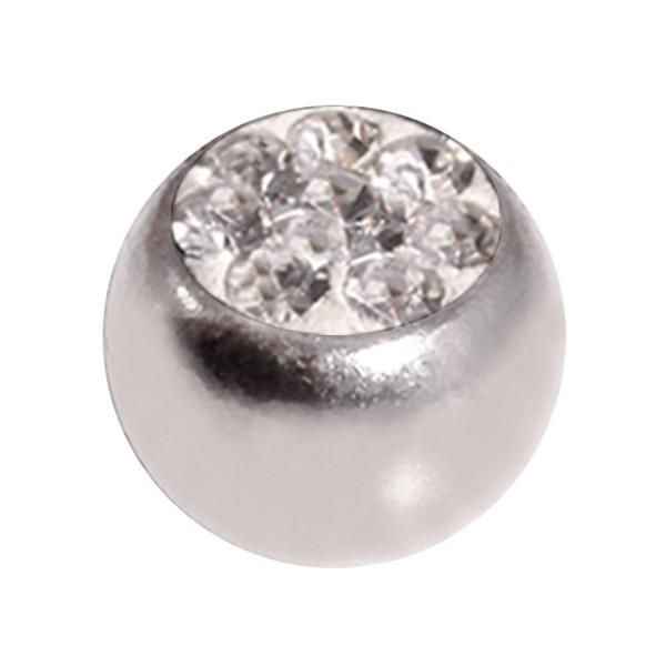 boule de piercing seule cristal strass blanc votre piercing. Black Bedroom Furniture Sets. Home Design Ideas