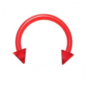 Piercing Tragus / Septum Bioplast Rouge Piques