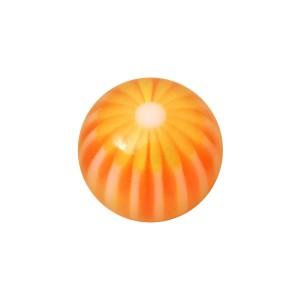 Boule Acrylique UV Fleur 32 Faces Orange pour Piercing Lèvre
