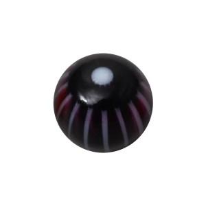 Boule Acrylique UV Fleur 32 Faces Noir pour Piercing Lèvre