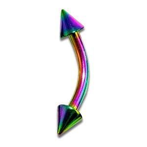 Piercing Arcade Anodisé Multicolore Piques