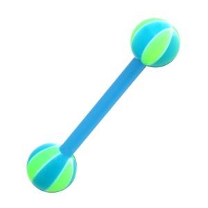 Piercing Langue Bioflex Ballon Basket 2 Bleu / Vert