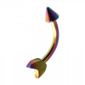 Piercing Arcade Acier 316L Anodisé Multicolore Flèche Pique