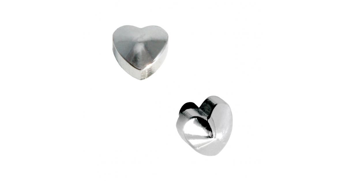 piercing microdermal acier chirurgical 316l coeur relief. Black Bedroom Furniture Sets. Home Design Ideas